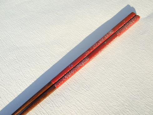 カジュアル箸 「赤市松」