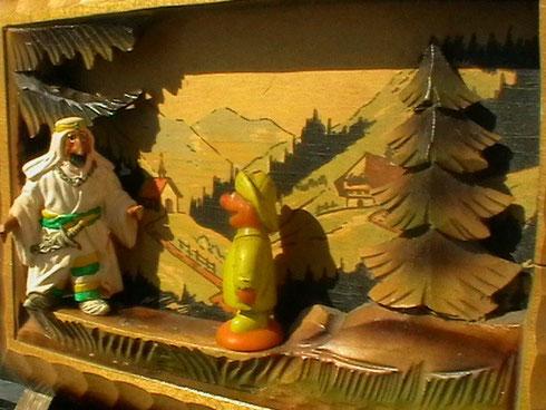 Ernie trifft Osama in seinem schwarzwälder versteck