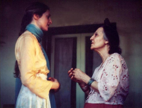 Susan with Mehera Irani at Meherazad, India