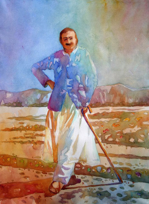 MEHER BABA WITH CANE