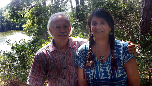 Jeff with Nan Wicker - Sept.2013 - Meher Spiritual Center, Myrtle Beach, S.C.