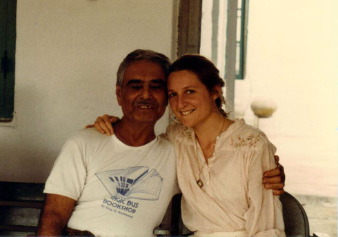 Susan with Eruch Jessawala at Meherazad, India