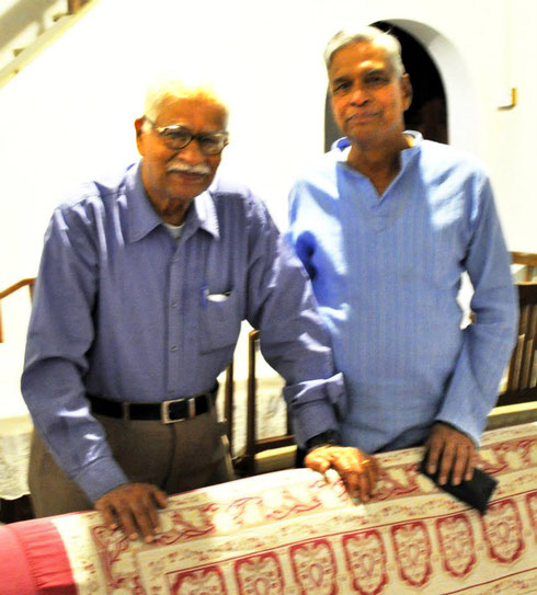 Jal Dastoor and Shridhar Kelkar in Jal & Dolly's home in Meherabad