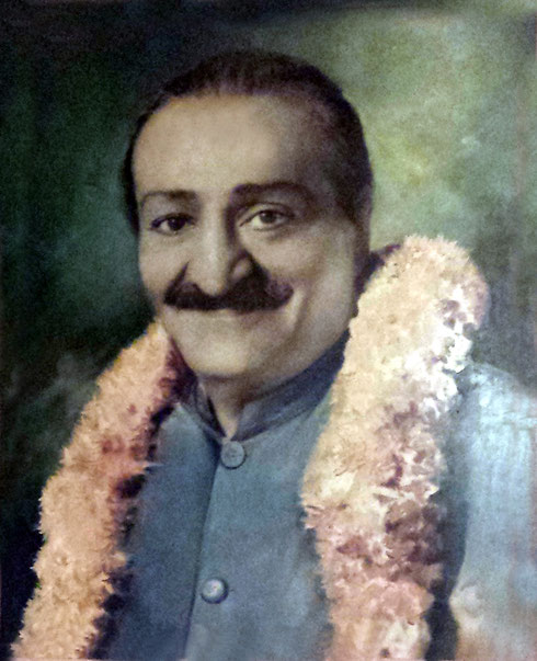 """Meher Baba in Washington"" - colourization by Panday ; Courtesy of Don McBride"