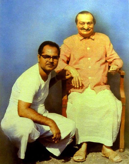 Bhau with Meher Baba at Meherazad, 1967