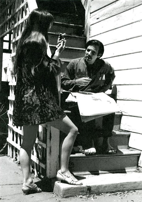 Robert Dreyfuss and Ursula Reinhart  - June 1969, Berkeley ; Coutesy of Ursula Reinhart
