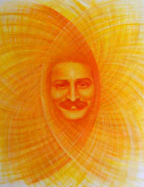 This painting appeared on the cover of the Meher Baba Australia newsletter issue June-August 2013