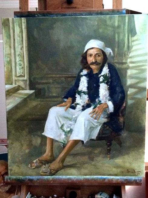 2014 : Current painting in his studio