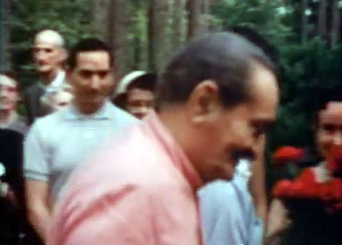 1958 ; Henry at the Meher Center in Myrtle Beach, SC., during Meher Baba's visit. Image captured from a film by Anthony Zois.