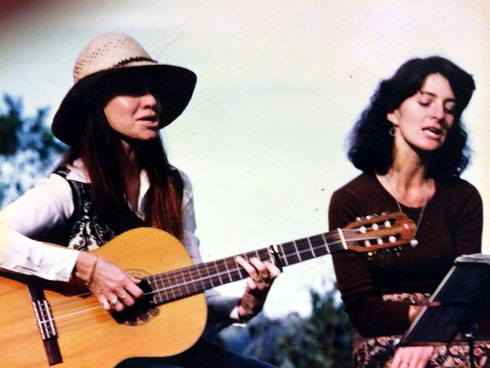 Raine & Sue Jamison singing at Avatars Abode Anniversary Sahavas, June 1978