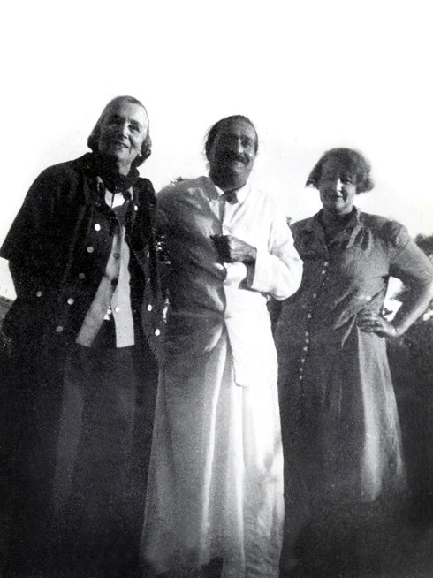 Meher Baba with Norina Matchabelli and Elizabeth - 1947-'48