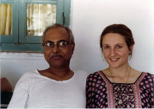 Susan with Bhau Kalchuri at Meherazad, India