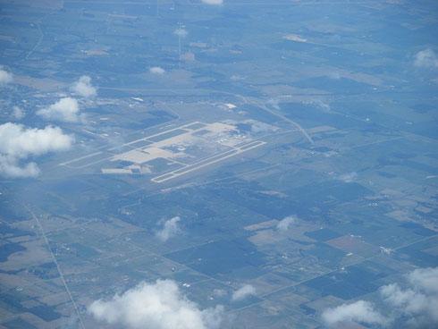 Aerial view Airborne Airpark