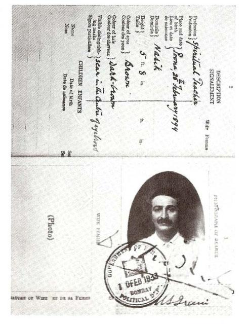 1933 :  M. S. Irani's Passport
