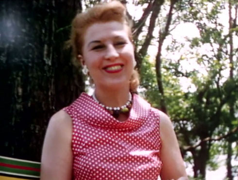 1956 ; Meher Center, Myrtle Beach, SC. 1956 ; Mickey's wife - Marion having lunch during Meher Baba's visit. The images were captured by Anthony Zois from a film by Sufism Reoriented of this visit.