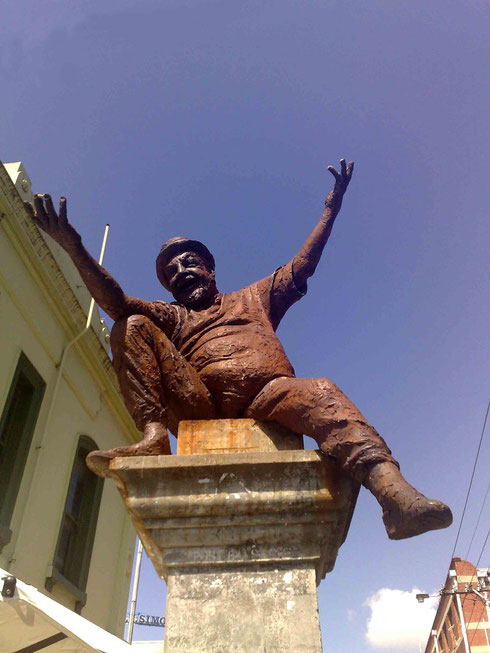 """Statue of a Poet"" in Brunswick Street Fitzroy, Melbourne, Australia"