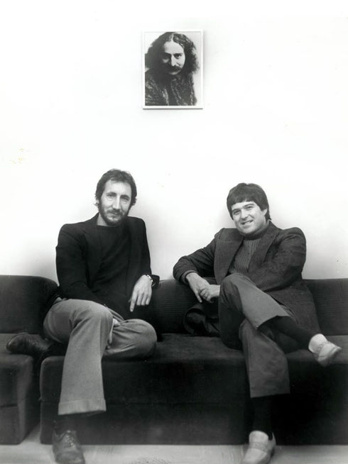 Allan with Pete Townshend
