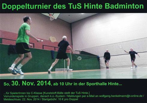 Doppelturnier des TuS Hinte Badminton