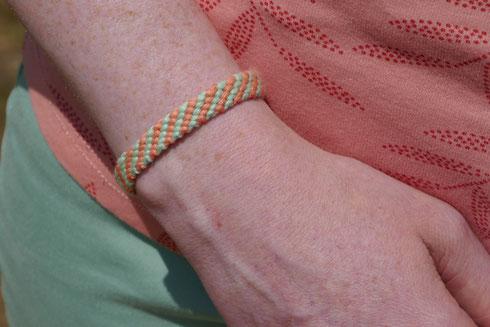 bracelet brésilien en diagonales