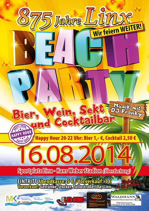 BeachParty am 16.08.2014