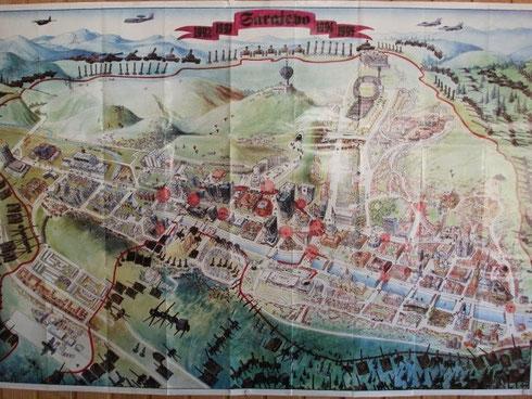 Die Belagerung Sarajevos auf einer Karte dargestellt
