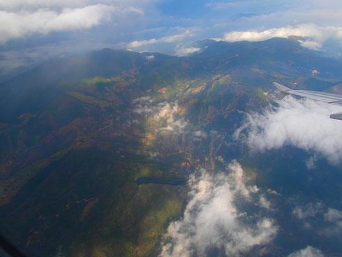Kurz vor der Landung in Cucuta, Kolumbien