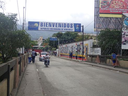 An der kolumbianisch-venezolanischen Grenze