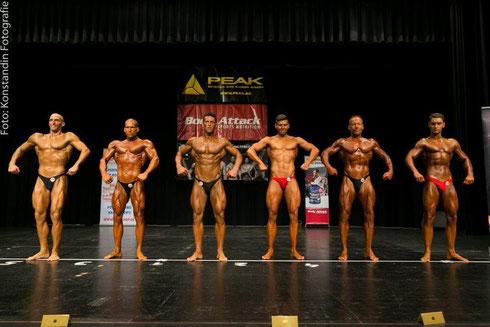 Line up v.l.n.r Mirko Burger (4.); Meeko Mikolaschek (1.); Raimund Megyeri (3.); Dennis Bohne (5.); Jens Berthold (2.); Sebastian Behr (6.)