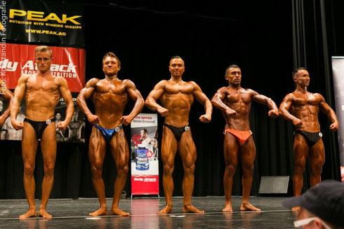 v.l.n.r. Andreas Getz (11.); Martin Streifinger (3.); Chris Nickel (7.); Ali Ibragimov (9.); Alexander Seel (6.)