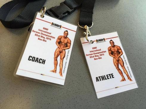 Athleten- und Coachausweis