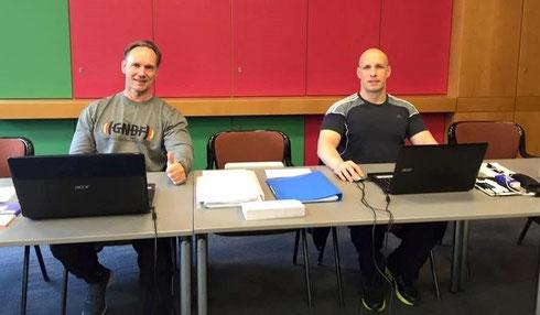 Das Einschreiben hat begonnen, mit Berend Breitenstein und Martin W. Ohlerich