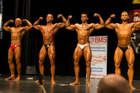 v. l. n. r.: Chris Noack (3.), Meeko Mikolaschek (4.), Eduardo Carillo (5.), Yordan Rangelov (1.)