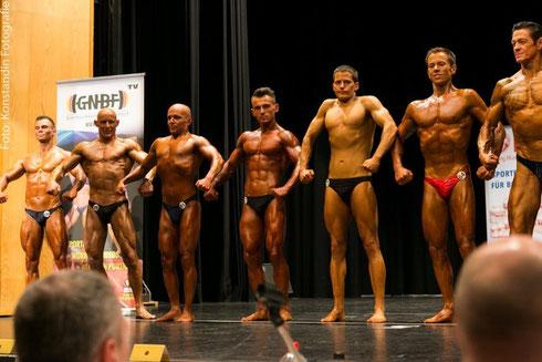 v. l. n. .r.: Pierre Kirchberger (5.), Sergej Löwen (1.), Kilicaslan Akkül (12.), Arthur Bill (2.), Stefan Schaub (13.), Mario Witschas (4.), Peter Klement (8.)