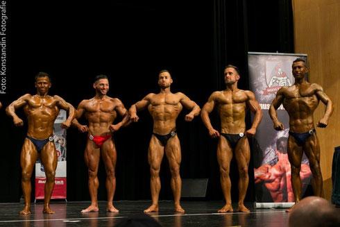 v. l. n. r.: Danilo Bonaffini (9.), Anastasios Fallias (3.), Yordan Rangelov (1.), Fabian Pilsl (7.), Denis Hyusein (4.)