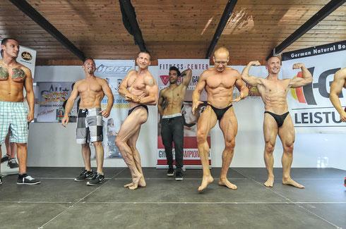 Weiteres Bild vom abschließenden POSEDOWN: Von links nach rechts:  Bastian Hock; Jörg Altmann; Rüdiger Lang; Fabian Getto; Jens Berthold; Rainer Mühl