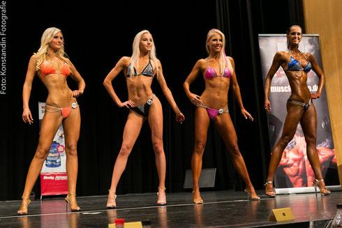 v. l. n. r:. Monika Melčáková (1.), Evgeniya Zhgunova (9.), Jennifer Schmidt (5.), Anne Siol (6.)