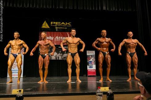 Line-up (v. l. n. r.): Rüdiger Lang (1.), Christian Unfried (5.), Raimund Megyeri (3.), Jens Berthold (2.), Andreas Kling (4.)