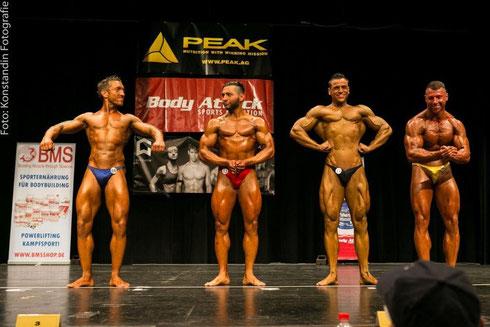 v. l. n. r.: Benny Braun (4.), Anastasios Fallias (3.), Patrick Teutsch (1.), Daniel Gildner (2.)