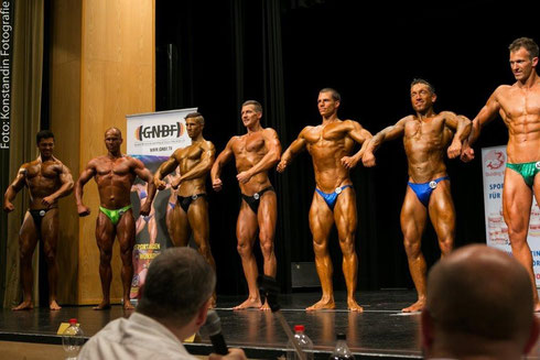 v. l. n. r.: Lukas Maxerath (2.), Ralf Schmidt (11.), Joe Klee (8.), Johann Enthammer (13.), Jakub Mily (3.), Benny Braun (4.), Daniel Rüschenschmidt (12.)