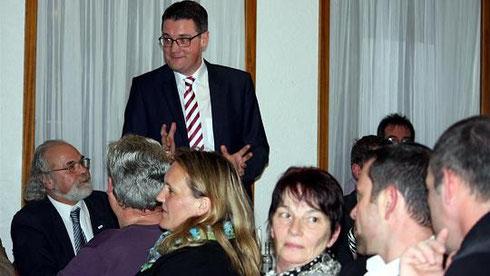 Dr. Tim Grüttemeier im Dialog mit den Breiniger Bürgern