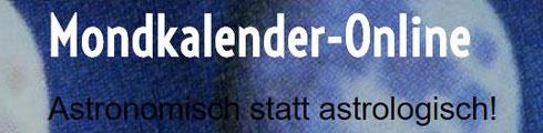 Mondkalender online com astronomisch statt astrologisch Logo