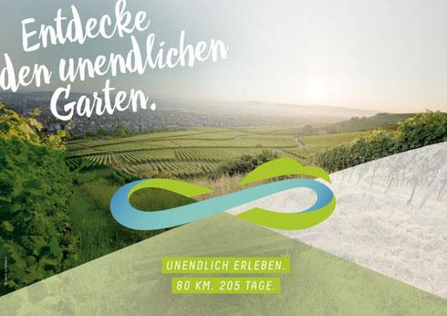 Remstalgartenschau entdecke den unendlichen Garten Logo Erlebnisgärten Weinstadt