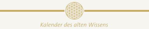 Kalender des alten Wissens Logo Astrologie Kalender Mondphasen Elemente Tierkreiszeichen Horoskope