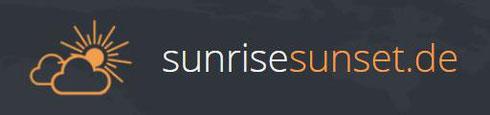 sunrisesunset DE Logo Sonnenaufgang Sonnenuntergang Deutschland