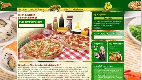 bringbutler Startseite Übersicht Bild