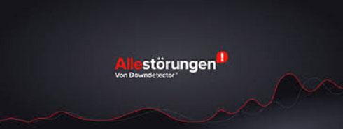 Allestörungen von Donwdetector Logo Störungsmeldungen Störmeldungen Störungskarte Störungen Ausfälle DSL Netzausfälle