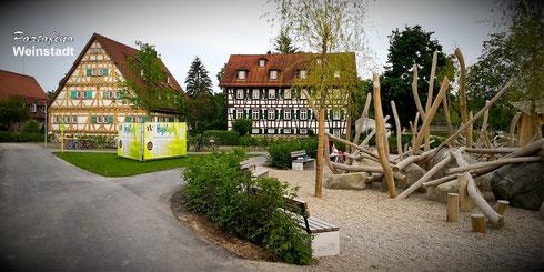 Portofino Weinstadt Häckermühle Großheppach Remswiesen Remsufer Kinderspielplatz Mühlwiesen