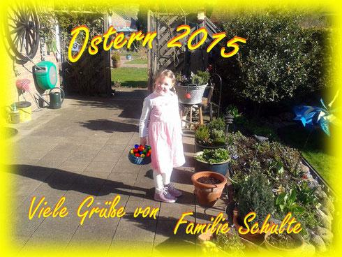 Ostergruß 2015 von Familie Schulte