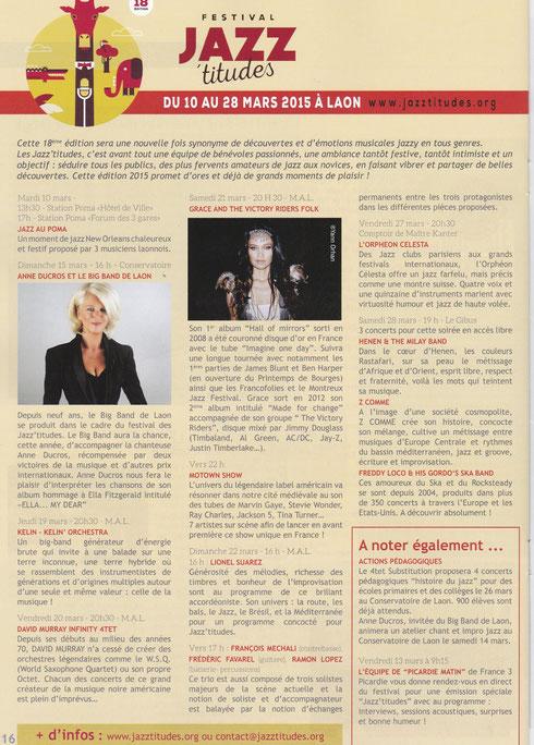 Elan printemps 2015 - Journal municipal de la Ville de Laon
