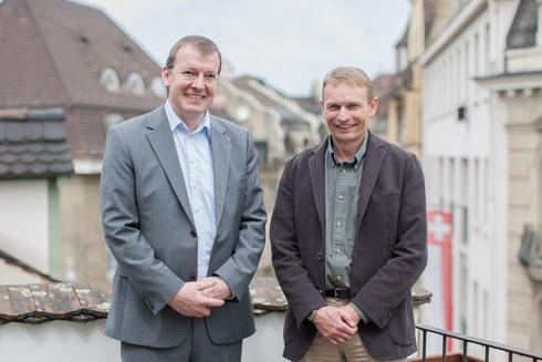 Hans Schneuwly von Motion Consulting und Thomas Walther von ANT Informatik (v.l.n.r.)